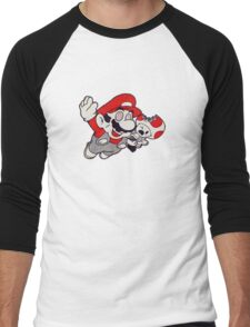 Mario Flying Mushroom Men's Baseball ¾ T-Shirt