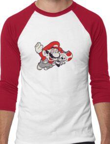 Mario Flying Mushroom Men's Baseball ¾ T-Shirt