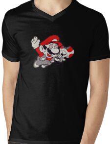 Mario Flying Mushroom Mens V-Neck T-Shirt
