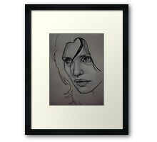 Charcoal experiment #3 Framed Print