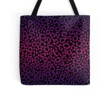 Black, Magenta and Purple Leopard Print Pattern Design Tote Bag