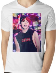 city scape Jimin Mens V-Neck T-Shirt