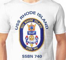 USS Rhode Island (SSBN-740) Crest Unisex T-Shirt