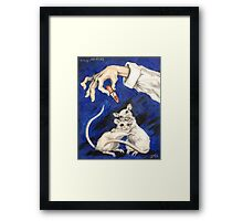 Lipstick and Lab Mice Framed Print