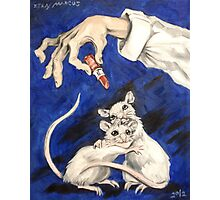 Lipstick and Lab Mice Photographic Print