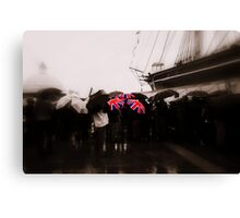 Union Jack Umbrellas Canvas Print