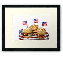 Hamburger Cakes Framed Print
