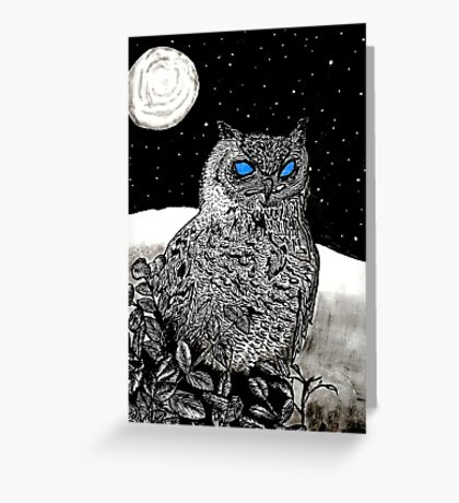 Spice Owl  Greeting Card