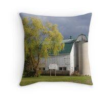 Barn in spring Throw Pillow