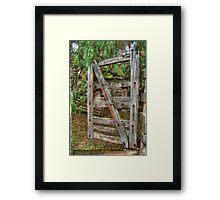 Old Farm Gate Framed Print