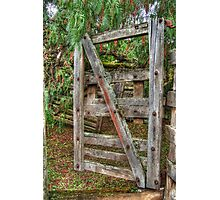 Old Farm Gate Photographic Print