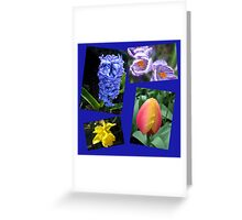 The Sweetness of Spring Floral Collage Greeting Card