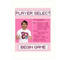 Markiplier Player Select Screen Art Print
