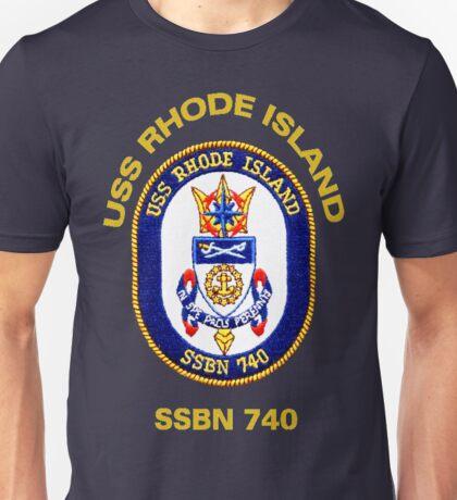 USS Rhode Island (SSBN-740) Crest for Dark Colors Unisex T-Shirt