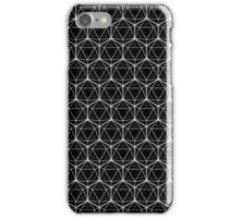 Icosahedron Black iPhone Case/Skin