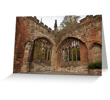 Ruins of St Michael's Cathedral Coventry Greeting Card