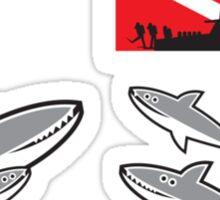Shark Dive: Fresh Meat! Sticker