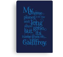 My Home Planet - Typographical Canvas Print