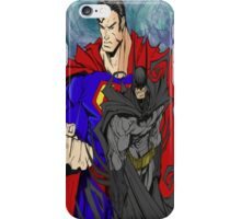 Batman And Superman super heroes iPhone Case/Skin