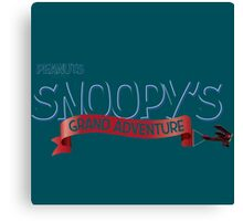 snoopy logo the peanuts movie Canvas Print