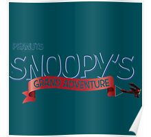 snoopy logo the peanuts movie Poster