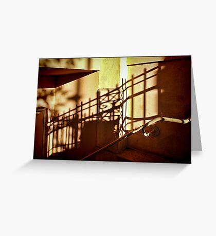 Golden Shadows Greeting Card