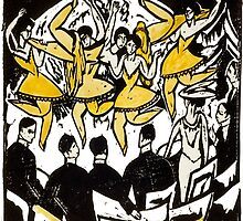 Dancers at the Ice Palace by Ernst Ludwig Kirchner by mosfunky