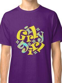 girly girl in yellow Classic T-Shirt