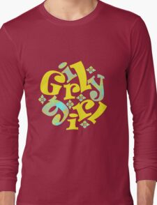 girly girl in yellow Long Sleeve T-Shirt