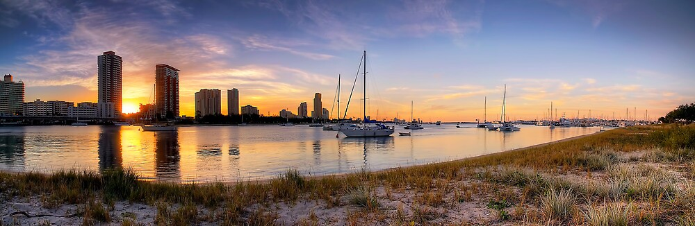Golden Broadwater - Panorama by Maxwell Campbell