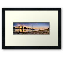 Golden Broadwater - Panorama Framed Print