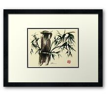 """Gentle Soul"" - Little ladybug in her bamboo haven Framed Print"