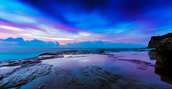 Reflections of Pink & Blue by Mark  Lucey