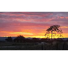 Sunset at Murrimbateman. Photographic Print