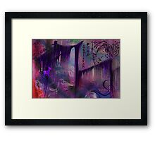 Purple Forest Dreams Framed Print