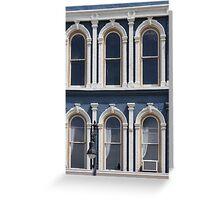 Blue Walls White Windows Greeting Card
