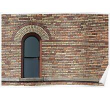 Brown Brick Building Poster