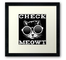 Check Meowt Cat with Shades Framed Print