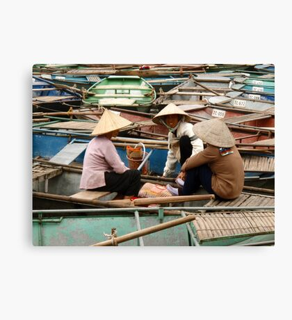 Tam Coc Chatter Canvas Print