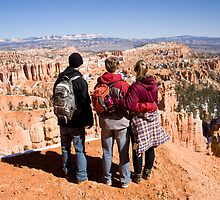 Group Looking Out Over Bryce Canyon by Robert Noll
