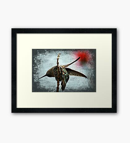 Humming Portrait Texture Framed Print