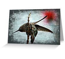 Humming Portrait Texture Greeting Card