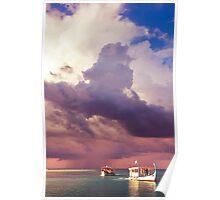 From the Rain into the Sun. Dhoni Boats. Maldives Poster