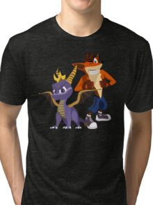 Orange & Purple Tri-blend T-Shirt