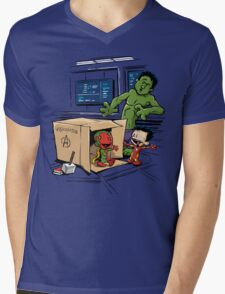 Scientific Bro-gress Goes Boink Mens V-Neck T-Shirt