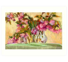 Cherry Blossom. Flowers in a vase.  Art Print