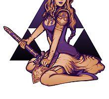 Zelda Pinup Sticker by MeganLara
