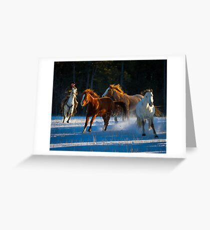 Chasing Horses Greeting Card