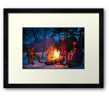 Cowboy Campfire Framed Print