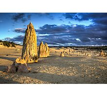SUN SETTING OVER THE PINNACLES Photographic Print
